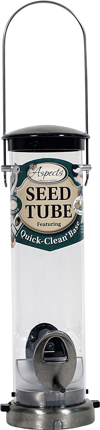 Aspects Petit nickel bross- Seed Tube Feeder Quick Clean 391