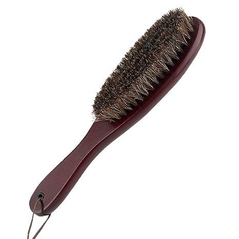 Cokaka - Cepillo para quitar pelusas con pelo de caballo suave y mango de madera para