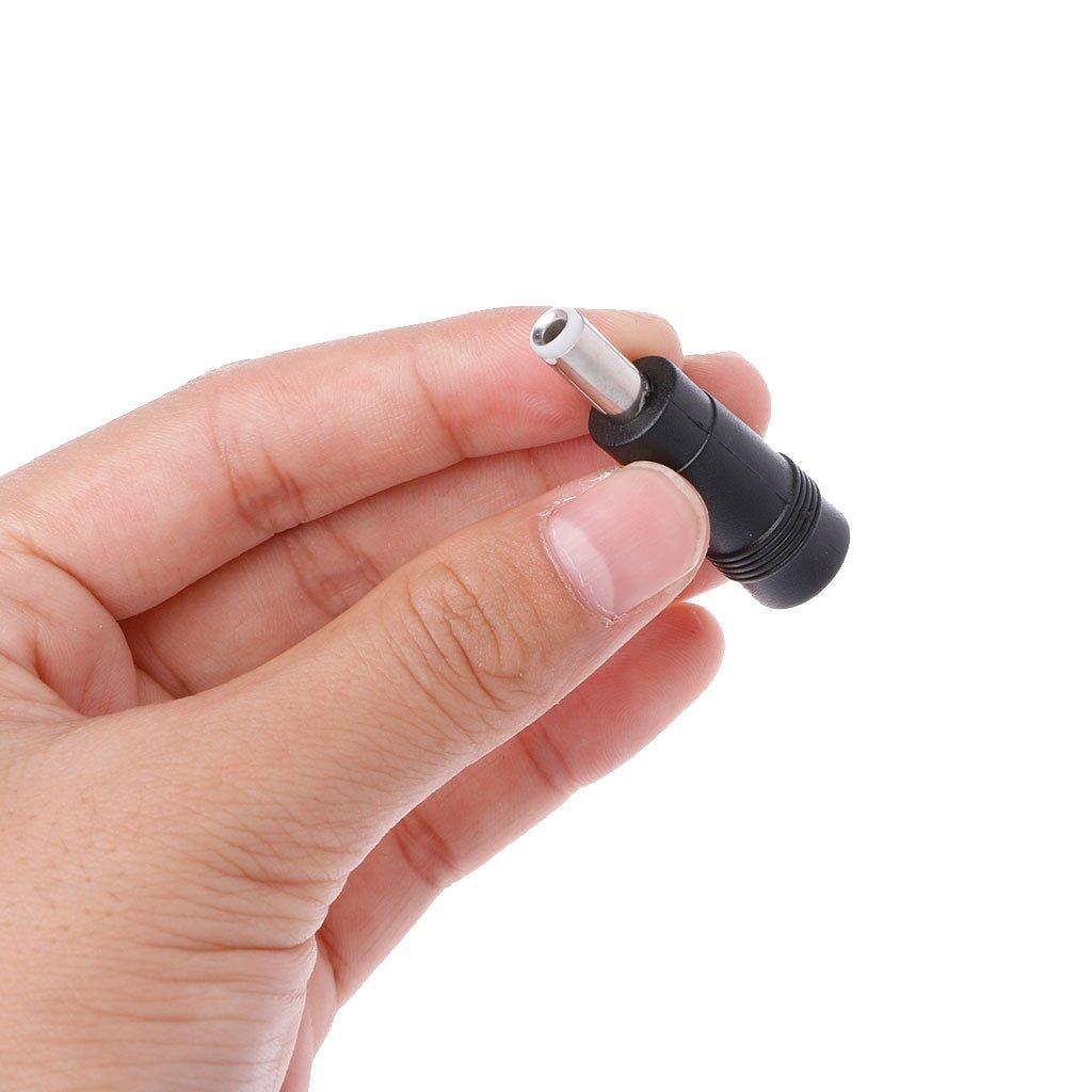 Zuanty 2 piezas//juego 5,5 x 2,1 mm par hembra 5,5 x 2,5 mm hembra adaptador de corriente continua