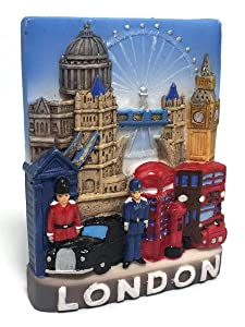 Tower Bridge Big Ben, LONDON SOUVENIR RESIN 3D FRIDGE MAGNET SOUVENIR TOURIST GIFT