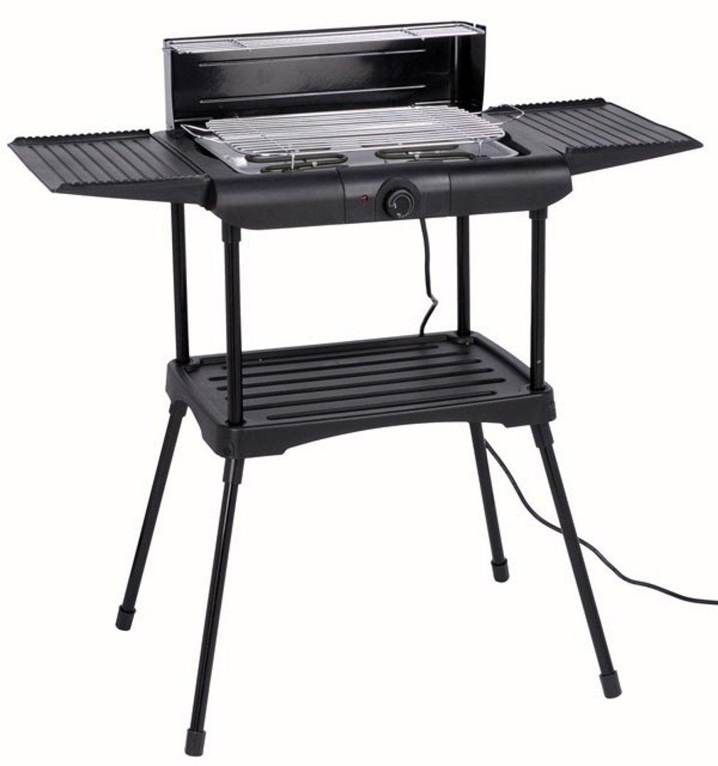 Elektro-Grill - große Grillfläche - Seitentische einklappbar - 87 x 46 x 86 cm - 230V - 2000W