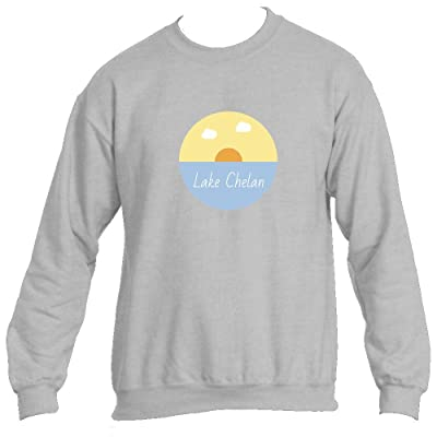 Tenn Street Goods Lake Chelan Lake Sunset - Washington Men's Crewneck Sweatshirt