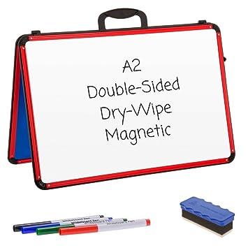 Cuña pizarras blancas - A2 - Borrado en seco magnético/doble ...