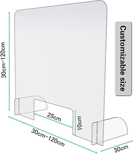 Compra AITK Mampara Mostrador Transparente, Protección contra ...
