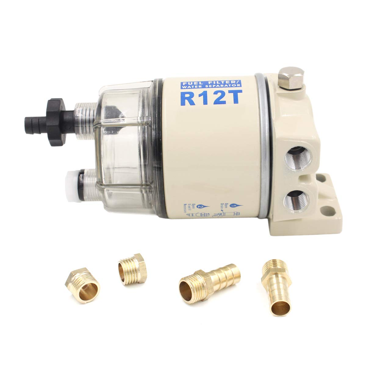 R12T Fuel Filter Water Separator 120AT NPT ZG1//4-19 Automotive Parts Combo
