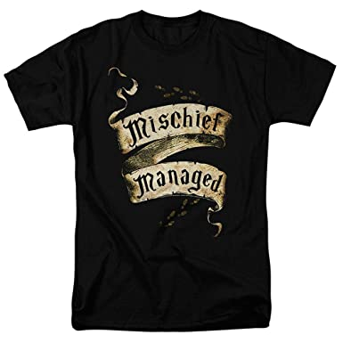 920409419 Popfunk Harry Potter Mischief Managed Marauder's Map T Shirt (Small) Black
