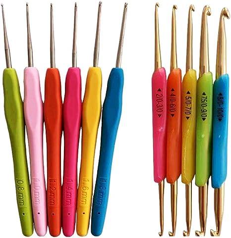 Bulky yarn needles Aluminum hook Metal handle crochet hooks Crochet tools supplies 5pcs Small size hooks set 4-6mm Crochet accessory