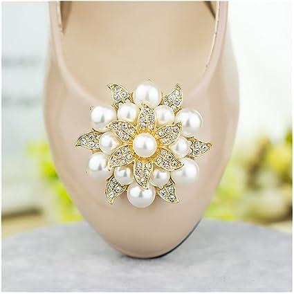 Amazon.com  Casualfashion 2Pcs Fashion Rhinestones Pearls Flowers Crystals  Wedding Party Shoe Clips (Gold)  Arts 2ca8b1a60d