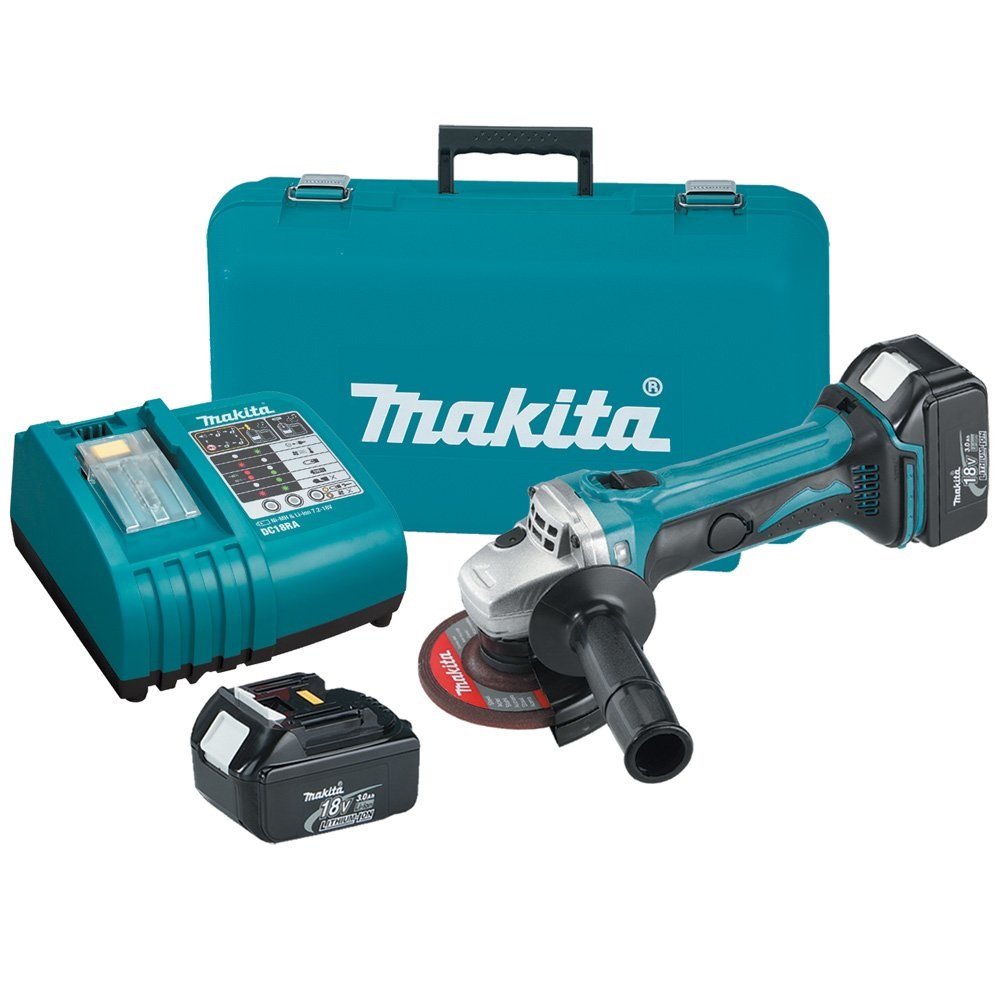makita cordless grinder. makita bga452 18-volt lxt lithium-ion cordless 4-1/2-inch cut-off/angle grinder kit (discontinued by manufacturer) - power angle grinders amazon.com t