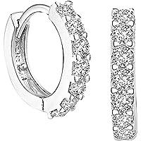 OTTATAT 2020 Women Silver Rose Gold Plated Cubic Zirconia Diamond Cuff Earrings Stud Elegant Accessory Jewelry Gifts