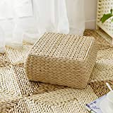 RXY-Wicker chair Japanese Rectangular Rattan Cushion Summer Home Ventilation Sofa Tatami Bedroom Living Room Cushion (Size : 30x30x15cm)