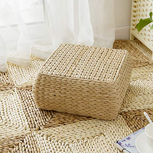 RXY-Wicker chair Japanese Rectangular Rattan Cushion Summer Home Ventilation Sofa Tatami Bedroom Living Room Cushion (Size : 30x30x15cm) by RXY-Wicker chair (Image #5)