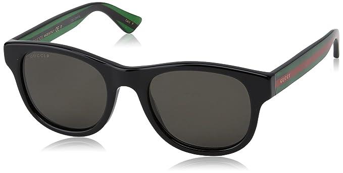1f23886807 Gucci Men s Polarized GG0003S-006-52 Black Square Sunglasses  Gucci ...