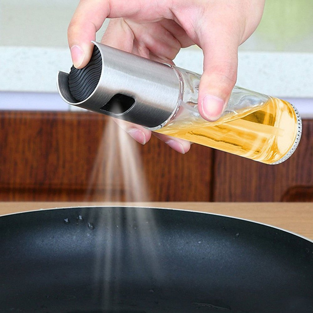 SYSAMA Spray Pump Fine Mist Olive Pump Spray Bottle Oil Sprayer for Roasting, sauteing, Baking or Grilling, Frying, BBQ .Pot Cooking Oil Dispenser Kitchen Tools Accessories