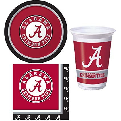 Amazon Com University Of Alabama Crimson Tide Party Supplies Kit