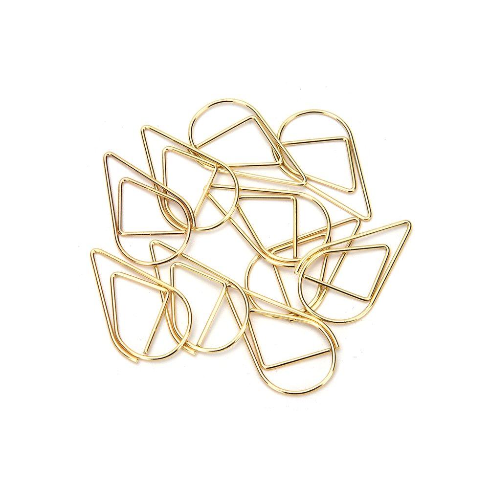 d/écoration 1,5 x 2,5/cm Silver Lot de 10 mini trombones//marque-pages en m/étal en forme de goutte deau Fournitures de bureau