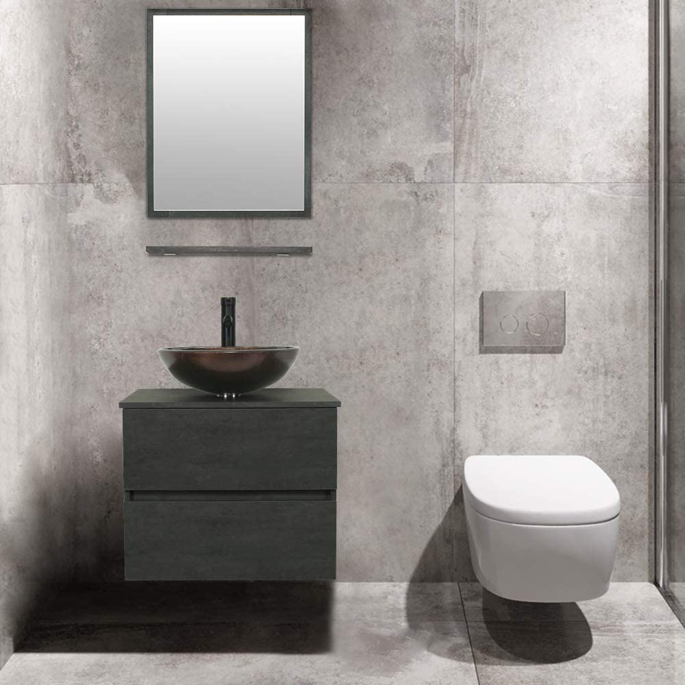 "A06E02CC Pop Up Drain & Mirror eclife 24"" Bathroom Vanity ..."