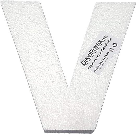 Letra J de 200mm de Altura x 30mm de Grosor en poliestireno expandido sin Pintar