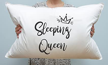 Signatives Saco de Dormir con Citas de Reina, Funda de Almohada, Almohada para Niñas