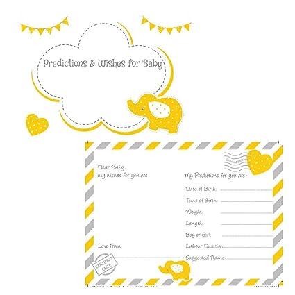 Bebé ducha tarjetas de predicción y bebé deseos Juego ...