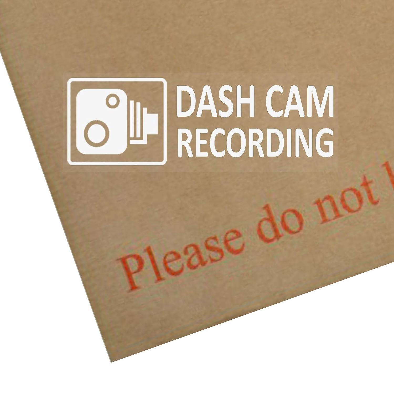 Platinum Place 5 x Dash CAM Recording-3.4x1.2 INCHES-Window Stickers-Vehicle Camera Security Warning Dash Cam Signs-CCTV,Car,Van,Truck,Taxi,Mini Cab,Bus,Coach Warning Camera Recording