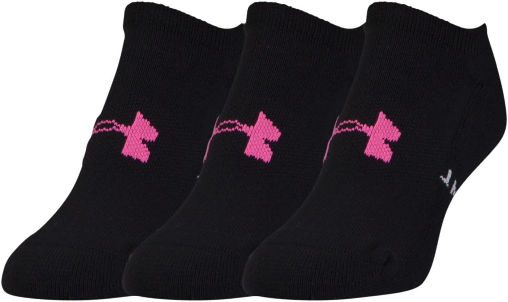 80bc0fc3e Amazon.com: Under Armour Athletic Solo 3-Pair Pack, Black, Shoe Size ...
