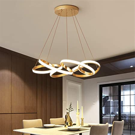 Modern LED Acrylic Chandelier Dining Room Dimmable 3000K