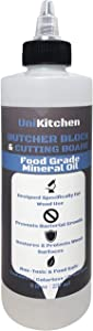 Food Grade Mineral Oil for Butcher Blocks, Cutting Boards, and Countertops - 8 Oz - Made in The USA