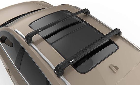 VOLVO XC40 SUV BLACK ROOF RACK CROSS BARS FLUSH RAILS LOCKABLE 2017-ONWARDS