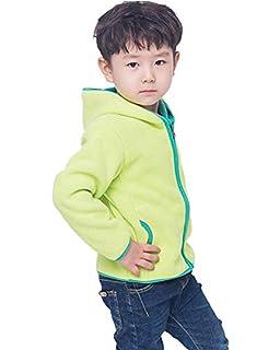 LANBAOSI Girls Boys Hooded Full Zip Polar Fleece Jacket Thermal Outdoor Hoodie