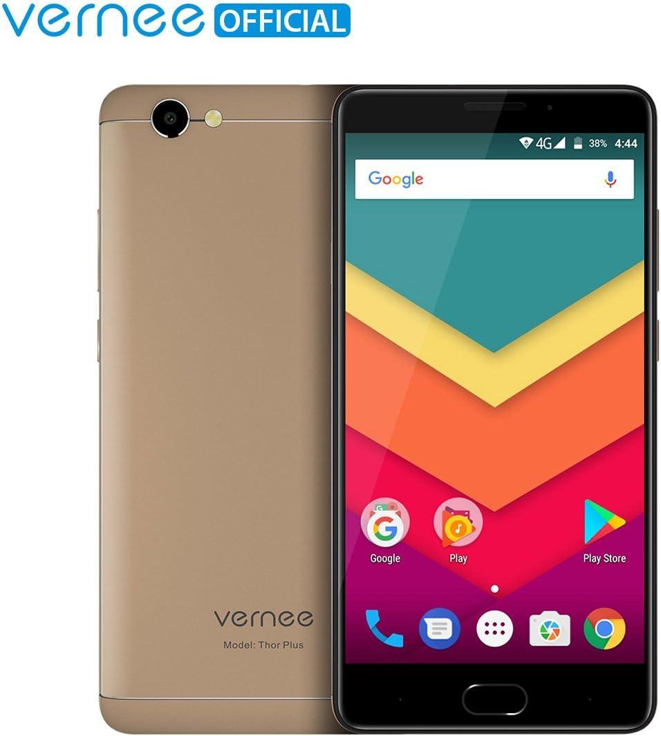 Teléfono Móvil Libre,Vernee Thor Plus 4G LTE Dual Sim Smartphone Libre,Pantalla AMOLED de 5.5 pulgadas,Android 7.0 Octa-Core,3GB de RAM y 32GB de Memoria Interna,Huella dactilar,Batería 6200mAh,Cámaras de 8MP+13MP(Oro): Amazon.es: Electrónica