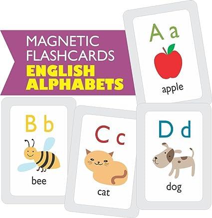 Amazoncom Mfm Toys English Alphabets Flashcards Magnetic Flash