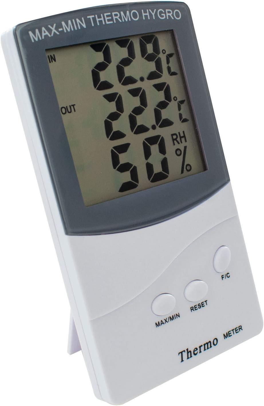 TRIXES Digitales Innen Alarm Wettertrend /& Temperatur und Au/ßenthermometer mit 2 Sensoren