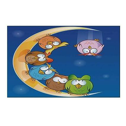 Amazon.com: YOLIYANA Moon - Felpudo duradero, diseño de ...