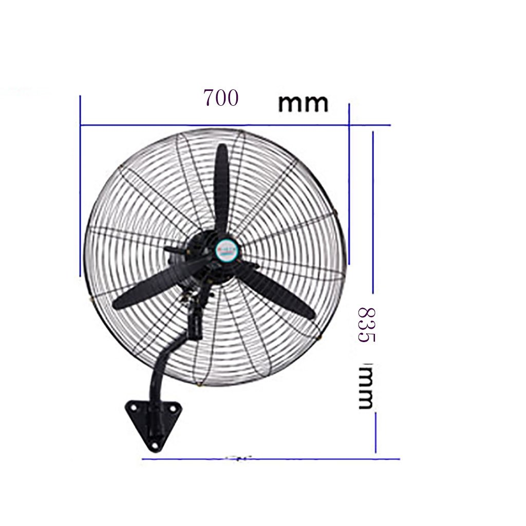 Fan Industrial High Power Pure Copper Motor Factory Workshop Strong Wall-mounted Floor Large Air Volume Horn Fa Color : A, Size : 55*68.5CM