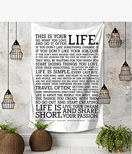 Amazon.com: RISEON This Is Your Life Motivational Inspirational ...