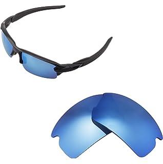 Walleva Ersatzgläser für Oakley Turbine Sonnenbrille - Mehrfache Optionen verfügbar (Feuerrot - Polarisiert)