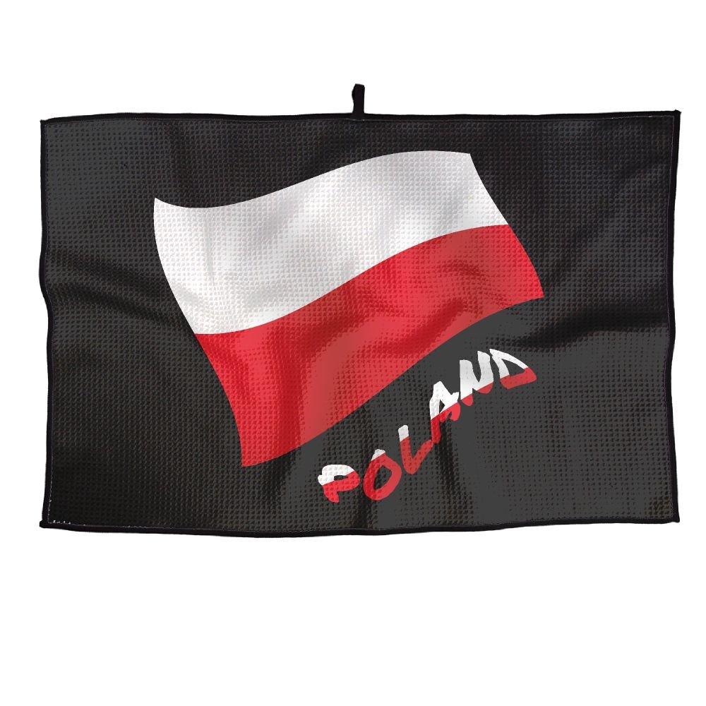 ゲームLifeポーランドの国旗Personalizedゴルフタオルマイクロファイバースポーツタオル   B07FC73BHP