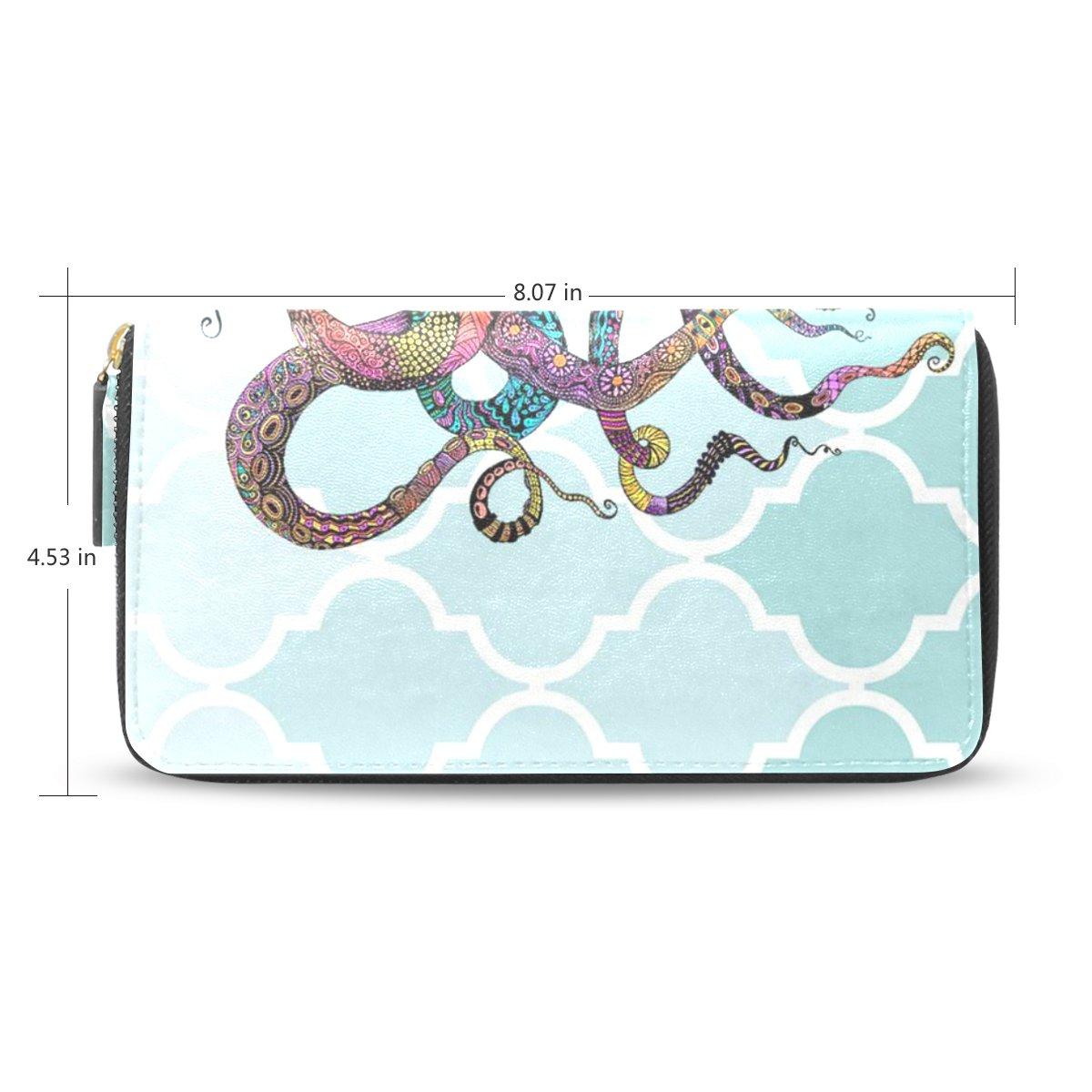 レディースオクトパスパターン長財布&財布ケースカードホルダー B01LY9OEPL