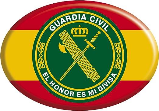 Artimagen Imán Guardia Civil Óvalo 65x45 mm España con círculo El ...