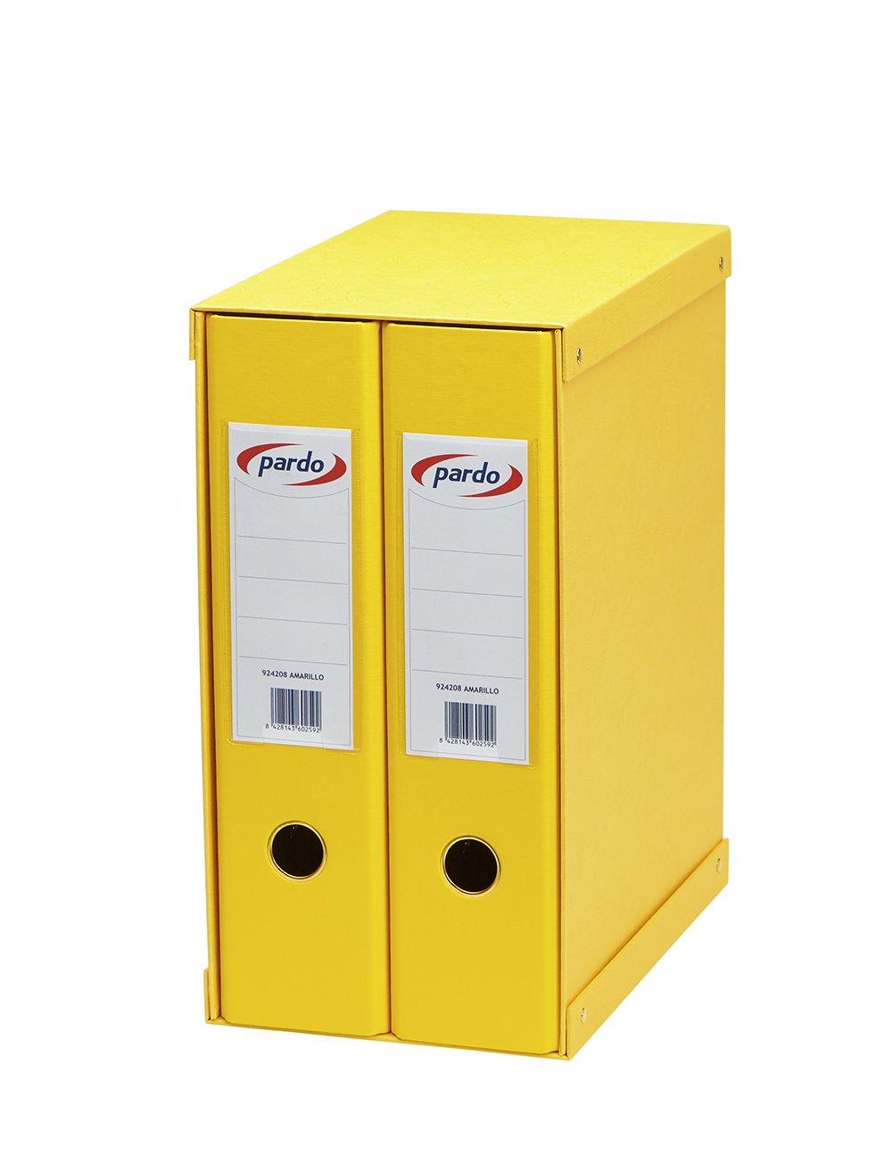Pardo 924209 - Módulo forrado, 2 archivadores palanca, color naranja: Amazon.es: Oficina y papelería