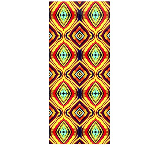 Kess InHouse Anne Labrie Diamond Light Yellow Red Luxe Rectangle Panel 24 x 36