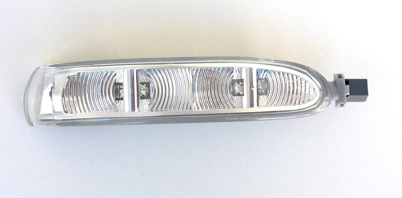 Intermitente LED Espejo con Luz L/ámpara Reflectora Para Retrovisor Exterior Derecho Lado Copiloto Compatible A209 R230 W639 por Favor A/ño de Fabricaci/ón Y Einschr/änkungen Inferior Tener en Cunena