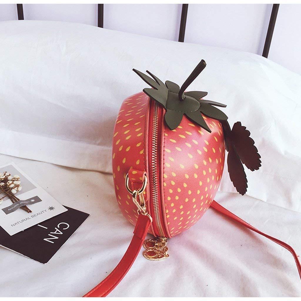 Eeayyygch Bolso Rojo del Bolso del Cubo de la Fresa, Accesorios Bolso Cruzado Circular Bolso Superior del asa Bolsas de Hombro de Las Mujeres Bolso ...