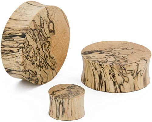 4 your ears only-Series Plugs Wood 10 carved from lime wood /& polished