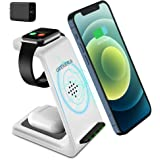 Wireless Charging Stand, GEEKERA 3 in 1 Wireless Charger Charging Dock Station for Apple Watch 6 SE 5 4 3 2, Airpods 2/Pro, i