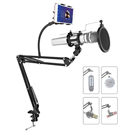 Amazon com: Powerextra Adjustable Recording Microphone Stand