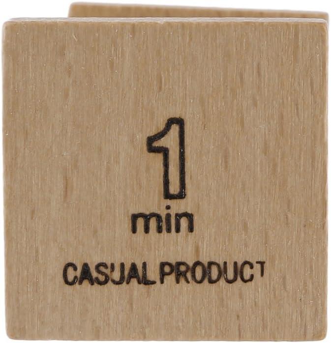 1 minute Vvciic Sablier en bois Sandglass sable horloge minuterie pour les enfants Brossage 1//5 minute