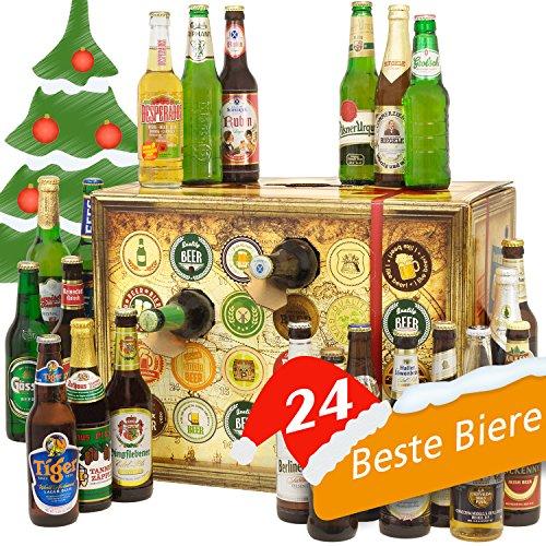 Bieradventskalender Welt und Deutschland mit Tuborg, TsingTao, Budweiser Dark Lager, Efes, Heineken + mehr ... Ein tolles Geschenk für Männer. Bierset + Geschenk, Biersorten aus aller WELT & DEUTSCHLAND. Bier Adventskalender 2016 - mit 24 Biersorten in FLASCHEN Adventskalender Bier Welt 2016 - Adventskalender für Männer, Adventskalender für Erwachsene, Bierkalender Adventskalender Alkohol, Weihnachtskalender mit Bier, Bier Adventskalender Weihnachtsgeschenke Bier Männer