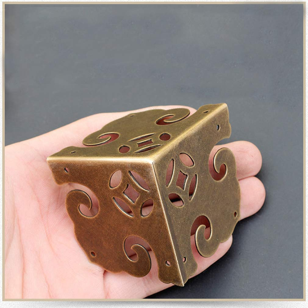 para escritorio armario esquinero Protectores de esquina de lat/ón puro vintage Tiazza 4 unidades caja de regalo de madera